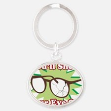 Youll-Shoot-Your-Eye-Out Oval Keychain