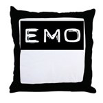 Emo Kid Emotional Label Throw Pillow