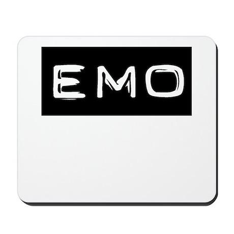 Emo Kid Emotional Label Mousepad