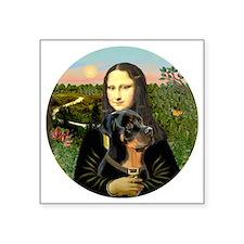 "J-Mona-Rottweiler5 Square Sticker 3"" x 3"""