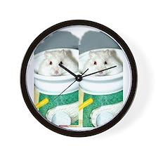 White-Albino Hamster Wall Clock