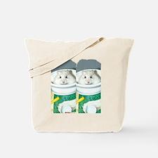 White-Albino Hamster Tote Bag