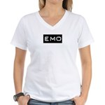 Emo Kid Emotional Label Women's V-Neck T-Shirt