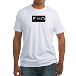 Emo Kid Emotional Label Fitted T-Shirt
