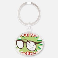Youll-Shoot-Your-Eye-Out DRK Oval Keychain