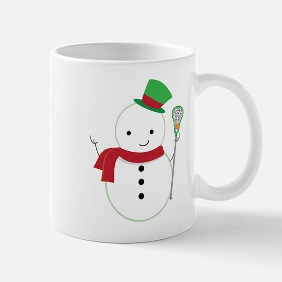 Lacrosse Christmas Snowman Mugs