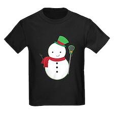 Lacrosse Christmas Snowman T-Shirt