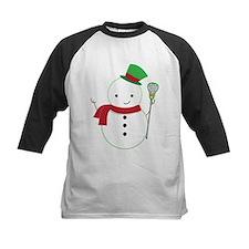 Lacrosse Christmas Snowman Baseball Jersey