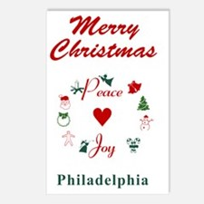 Philadelphia_5x7_Christma Postcards (Package of 8)