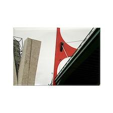 Spain, Bilbao. Guggenheim Museum  Rectangle Magnet