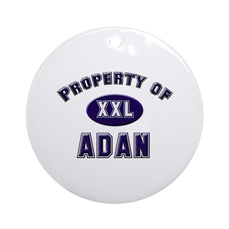 Property of adan Ornament (Round)