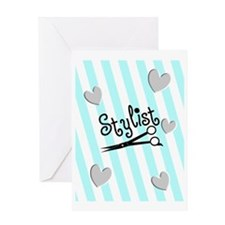 stylist stripes blue Greeting Card