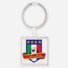 italian soccer Square Keychain