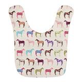 Horse Fleece Bibs