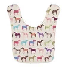 Colorful Horse Pattern Bib