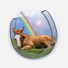 pot of gold--horse shoe-T Round Ornament