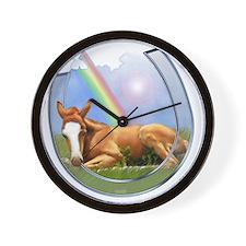 pot of gold--horse shoe-T Wall Clock