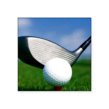 """golf puzzle Square Sticker 3"""" x 3"""""""