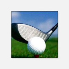 "golf puzzle Square Sticker 3"" x 3"""