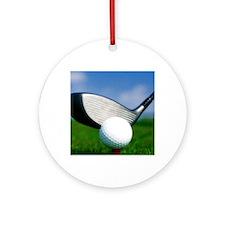 golf puzzle Round Ornament