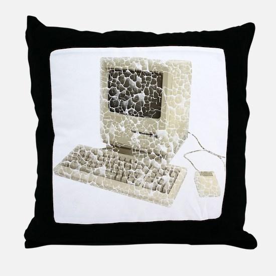 vintage-mac Throw Pillow