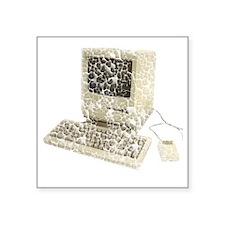 "vintage-mac Square Sticker 3"" x 3"""