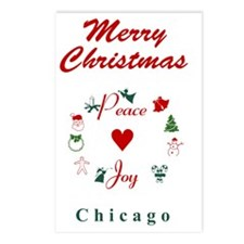 Chicago_5x7_Christmas Sto Postcards (Package of 8)