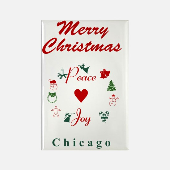 Chicago_5x7_Christmas Stocking_Pe Rectangle Magnet