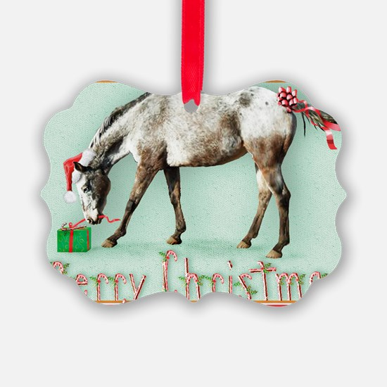 Appaloosa  Christmas card Ornament