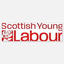 Scot young labour logo (w promo b Bumper Bumper Sticker