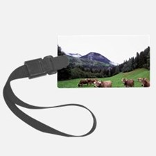 Umbrail Pass. Swiss brown cowsn, Luggage Tag