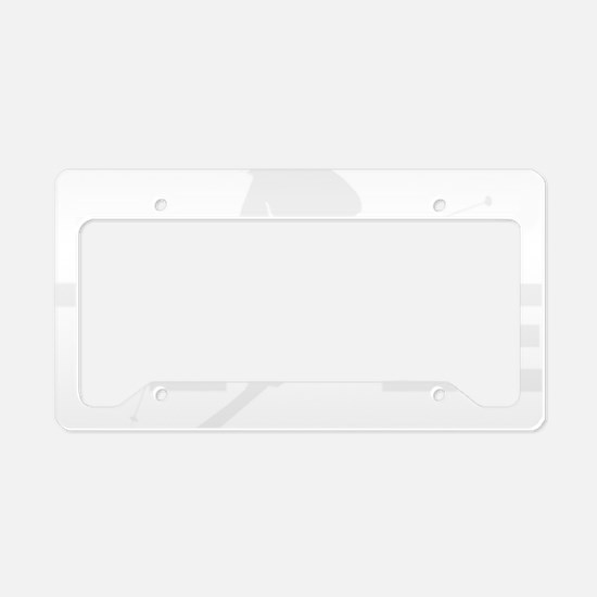 TE LE wht License Plate Holder