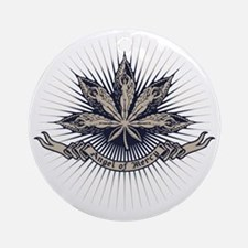 angel-leaf-LTT Round Ornament