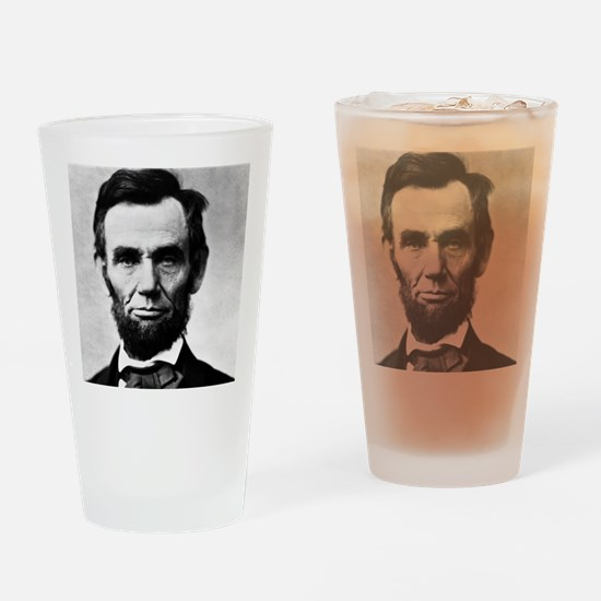 abe puzzle Drinking Glass