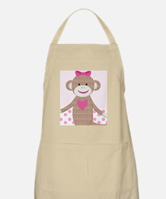 Girl Pink Sock Monkey Kindle Nook Sleeve Apron