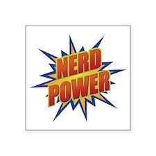 "Nerd Power Square Sticker 3"" x 3"""