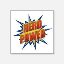 "Nerd Power Square Sticker 3"" x 3"""