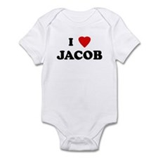 I Love JACOB Infant Bodysuit
