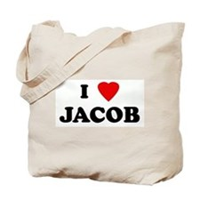 I Love JACOB Tote Bag