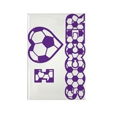 purple sideways Rectangle Magnet
