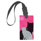 Pink cat Luggage Tags