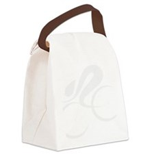 speed cycle wht Canvas Lunch Bag