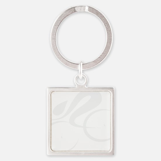 speed cycle wht Square Keychain