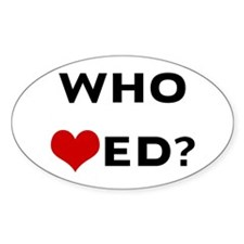 Who Hearted? Oval Decal