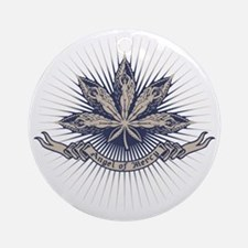 angel-leaf-DKT Round Ornament