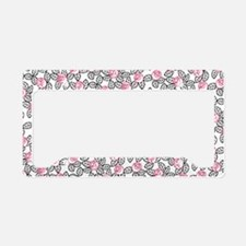 wild cherry floral-small bag License Plate Holder