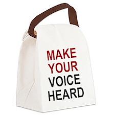voiceheardbtn Canvas Lunch Bag