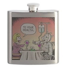 Get Well Front Flask