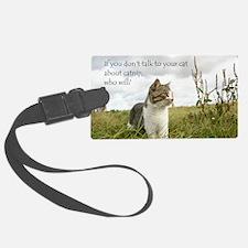 catnip message Luggage Tag
