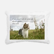 catnip message Rectangular Canvas Pillow
